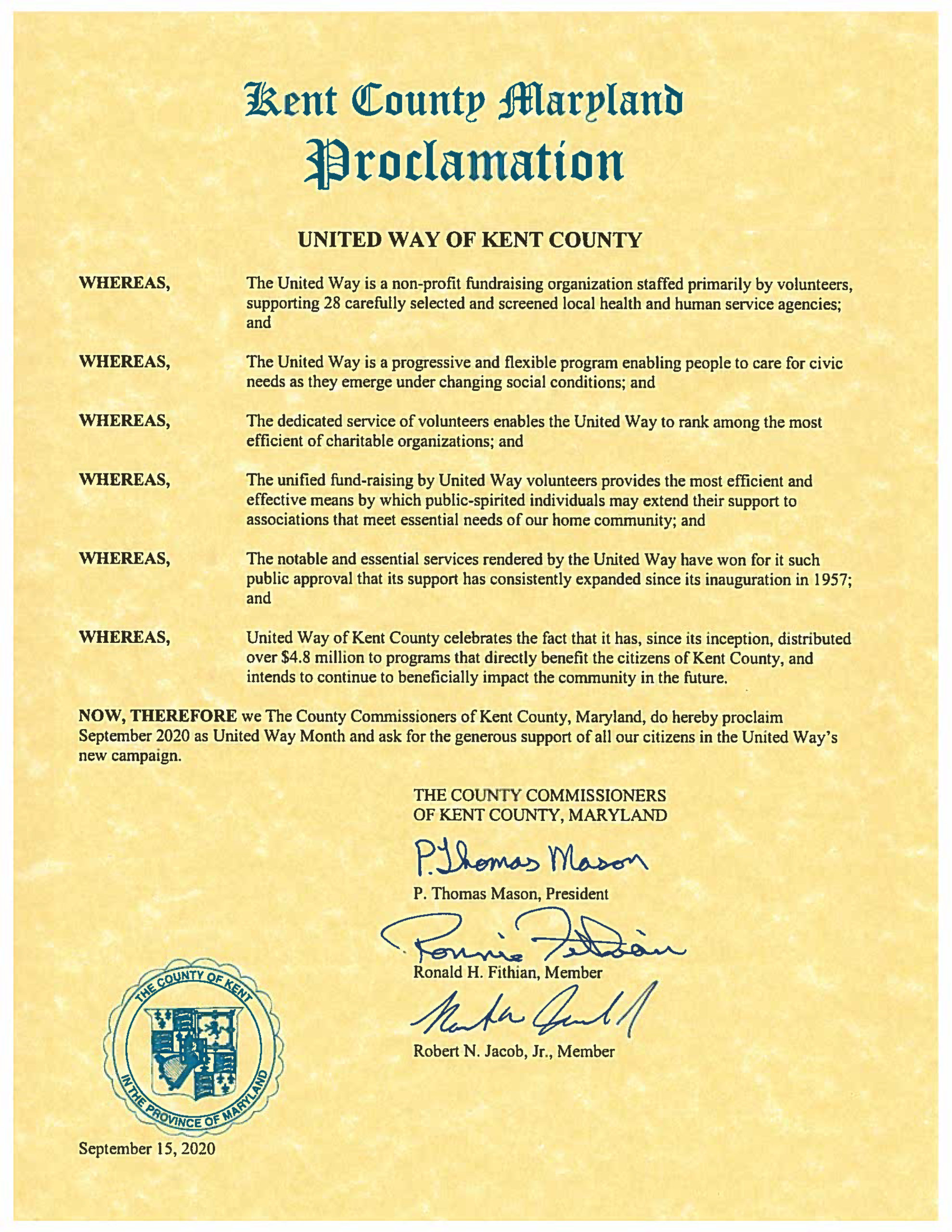 September is United Way Month in Kent County!